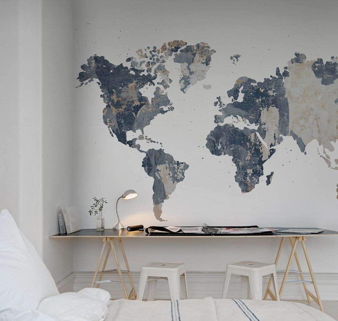 Mural rebel walls your own world battered wall ref r13924 for Create your own mural wallpaper