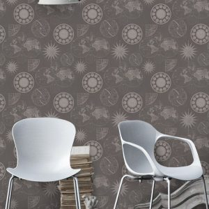 Papel pintado Navigation brown WP20039 Mind the gap ambiente