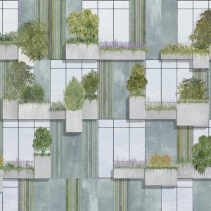 RANDOM ARCHIST MURAL VERTICAL FOREST GREY 9000062