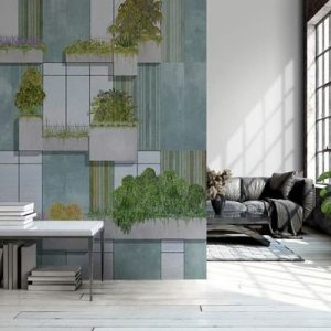 AMBIENTE RANDOM ARCHIST MURAL VERTICAL FOREST GREY 9000062