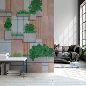 AMBIENTE RANDOM ARCHIST MURAL VERTICAL FOREST NUDE 9000063