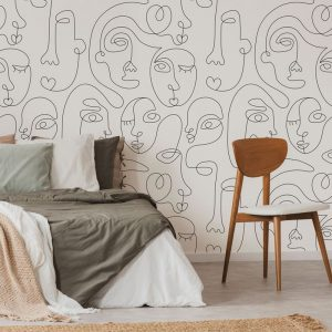 Ambiente mural faces white