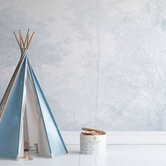 Ambiente mural adhesivo enchanted forest blue