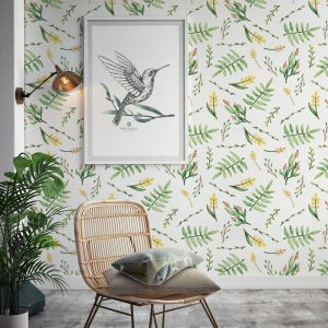 Ambiente Papel adhesivo little flowers yelow