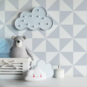 Ambiente geo triangle papel infantil