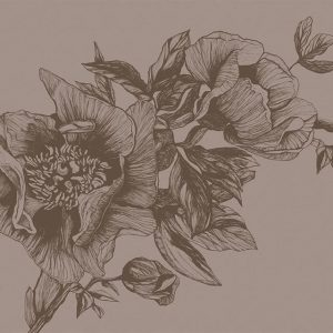 LR 9500703 300x300 - MURAL NATURAE GIANT PEONIES CACAO 9500703