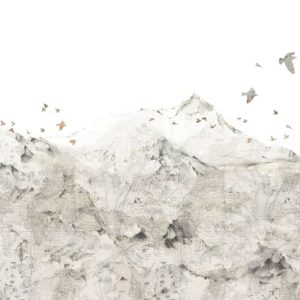Mural paper mountains R13871