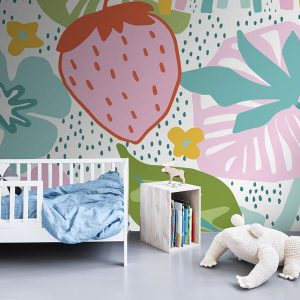 AMBIENTE MURAL INFANTIL STRAWBERRY FIELD