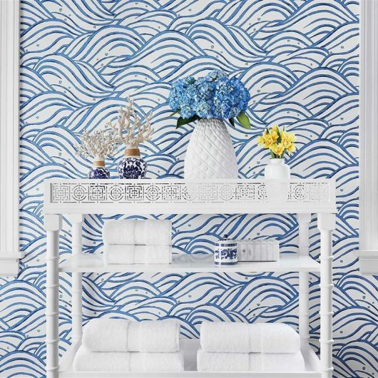 ambiente papel pintado waves at9873