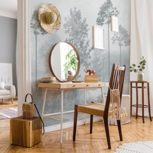 Ambiente mural adhesivo magical forest blue