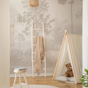 Ambiente mural adhesivo magical forest cream