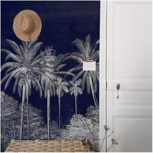 palm grove midnight 1 300x300 - MURAL LES DOMINOTIERS PALM GROVE. 2 COLORES
