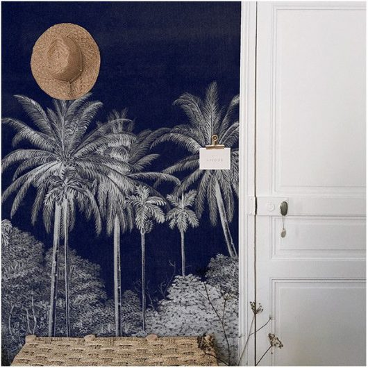 palm grove midnight 1 530x530 - MURAL LES DOMINOTIERS PALM GROVE. 2 COLORES