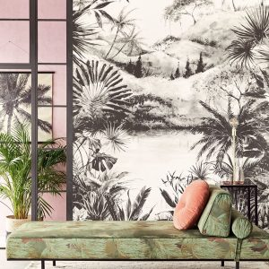 Ambiente Mural Tropical Charcoal 384604