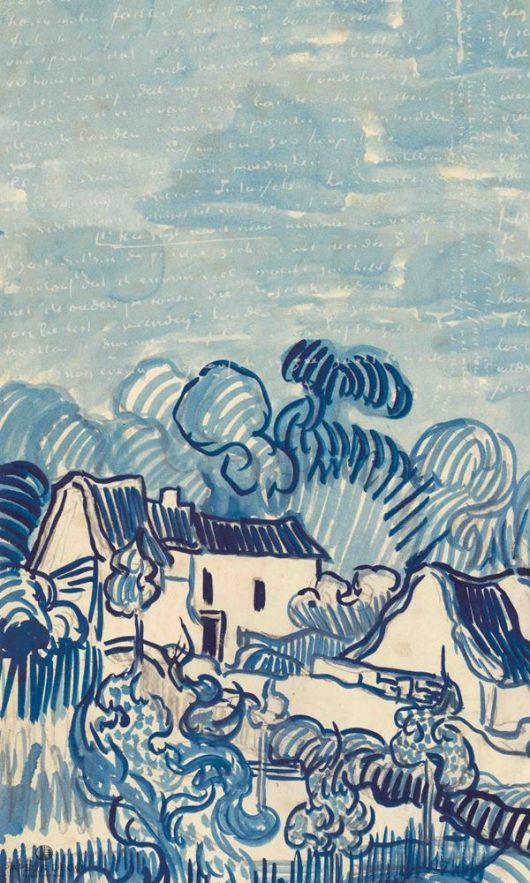 Mural landscape with houses
