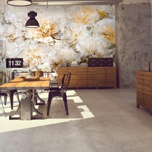 Ambiente Mural Pix-Art White Peony L0080
