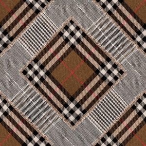 Mingthegap CHECKERED PATCHWORK Mid Brown