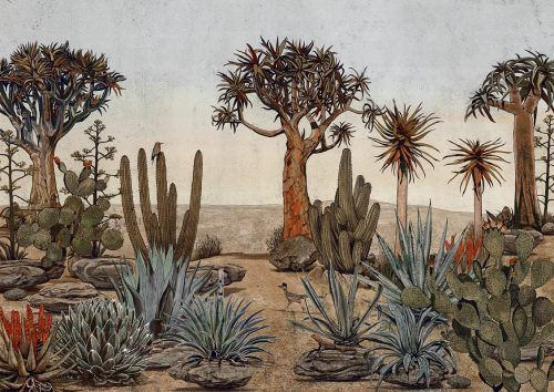 Mural con cactus random papers chinoiseries 7900140