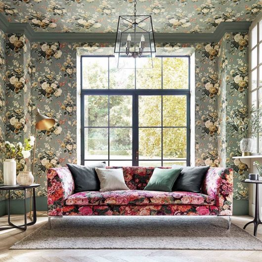 stapleton park wallpaper and very rose and peony fabric 1 530x530 - PAPEL FLORAL INGLÉS STAPLETON PARK 217047